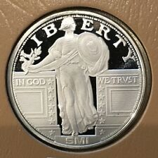 Standing Liberty US American Coin & Vault 1 Troy Oz .999 Fine Silver Proof Round