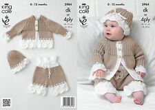 KINGCOLE 3984 Baby DK Knitting Pattern -sizes 14-20 - Not the finished items