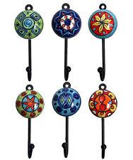 Garderobenhaken 6 Stück große Kleiderhaken Handtuchhaken Keramik - Metall