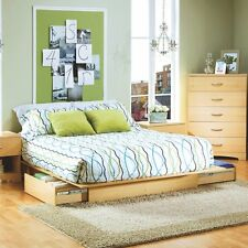Studio Queen Storage Platform Bed, Natural, Queen