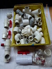 Variety of PVC valves, elbows, t-junctions, connectors, etc. - Unused