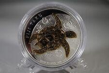 New Zealand Mint 2010 - 1 Oz Silver Coin Gilded Fiji Taku - Gold Plated