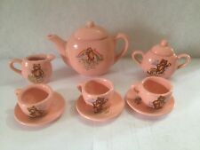 Miniature China Tea Set, 11 Piece, Little Bear, Porcelain