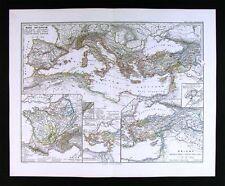 1865 Spruner Map - Mare Internum - Pompeii Roman Empire Rome Italy Mediterranean