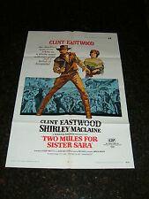 "TWO MULES FOR SISTER SARAH Original Movie Poster, 27"" x 41"", C8.5 Very Fine Plus"