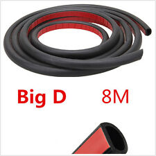 8 Meters Big D-Shape Car Off-Road Door Window EPDM Rubber Weatherstrip Kit Black