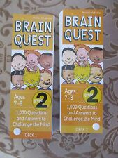 Brain Quest Grade 2 Ages 7-8 Deck One & Deck Two