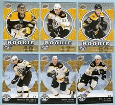 07-08 UD Mini Jersey Boston Bruins Team Set (6 w/ Lucic Rask RC's)