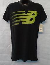 Women's New Balance Short Sleeve T Shirt  Top Size Small Brand New Black #4354