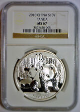 2010 10 Yuan 10Yn PANDA Silver CHINA NGC MS67 MS 67