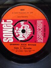 """Hank C. Burnette - Spinning Rock Boogie 7"""" Vinyl UK Sonet SON 2094 (1976)"""