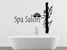 Wall Decals Spa Salon Bamboo Lotus Decal Vinyl Sticker Home Decor Bathroom MS401