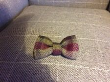 GREEN WOOL TWEED TARTAN DOG BOW-TIE - SLIPS ONTO COLLAR-GREAT DOG OR PUPPY GI