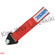 NEW RACING UNIVERSAL RED RACING TOW STRAP RATED AT JDM/USDM/KDM 10,000 LB RATING