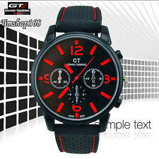 Fashion Men's Watch Cool GT Stainless Steel Sport Analog Quartz Wrist Watch Y5