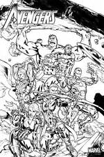 Avengers Black & White Coloring Poster 36 x 24 Foldup Promo (Marvel, 2015) NEW