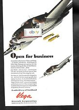 LOCKHEED AIRCRAFT CORP 1943 VEGA BOMBERS OPEN FOR BUSINESS WW2 AD