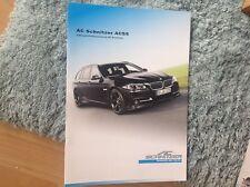 BMW SERIE 5 PER AC Schnitzer SALES BROCHURE 2013 difficile da trovare l'oggetto