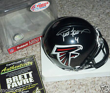 GREEN BAY PACKERS BRETT FAVRE 4 AUTOGRAPHED ATLANTA FALCONS HELMET COA HOLOGRAM