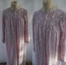 Vintage Frilly Full Length Dressing Gown House Coat Negligee Robe Lace Nylon 42""