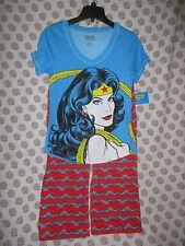 nwt Wonder Woman DC Comics Comic Book Super Hero Cropped Lounge Pants Pajamas L