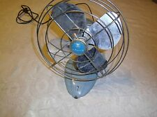 Vintage Wizard model 6JC200A desk fan Western Auto Supply Co. single speed