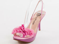 New La Plage Pink Leather Made in Italy Sandals Size 38 US 8