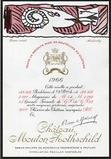 PAUILLAC 1E GCC ETIQUETTE CHATEAU MOUTON ROTHSCHILD1966 73 CL DECOREE §07/07/16§