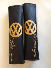 VW Volkswagen Inspired Seat Belt Pads,Carbon Fibre Effect Vinyl, VW T4 T5 camper