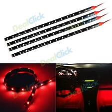 1pcs Red LED Strip Lights Interior Glow Neon Lighting Car Truck SUV 30CM 15SMD E
