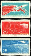 EBS East Germany DDR 1961 1st Manned Space Flight Gagarin MNH Michel 822-824**