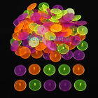 100pcs Pack Flat Round Plastic Golf Ball Position Marker Multicolor Markers Mark