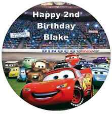 Disney Cars Lightning Mcqueen Personalised Wafer Paper Topper For Large Cake 7.5