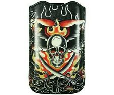 Ed Hardy Leder Tasche Etui Skull Sword Hülle Apple iPhone 4 4S 3 GS 2 iPod Touch