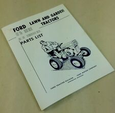 FORD 80 100 120 GEAR & HYDROSTATIC DRIVE LAWN GARDEN TRACTORS PARTS LIST MANUAL