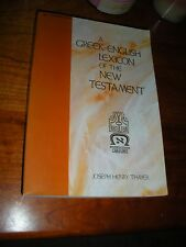 """""""Thayers"""" Greek English Lexicon Watchtower Research Theos Parousia Jehovah IBSA"""