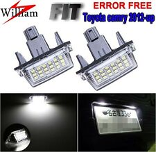 2 Bulbs Xenon White LED License Plate Lights For TOYOTA CAMRY 2012-2015