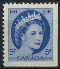 Canada 1954-62 SG#467, 5c QEII Definitive MNH Bottom Right Imperf #D6953