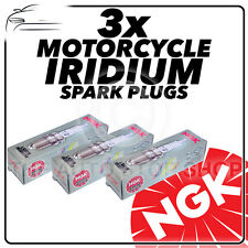 3x NGK Spark Plugs for CAN-AM (BRP) 1330cc Spyder RT Ø10mm Plug 14-  No.90982
