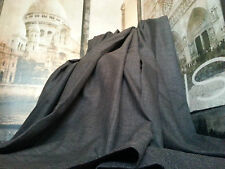 """Huge  Bespoke Linen Charcoal EP52""""W113""""L Blackout/Thermal Lined Bay Curtains"""
