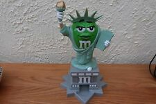 VERY RARE M & M's Statue Of Liberty Candy Dispener Ms Green Lady NY Times Square