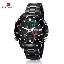 NAVIFORCE NF9030M Black Fashion Military Sports Stainless Steel Watch For Men