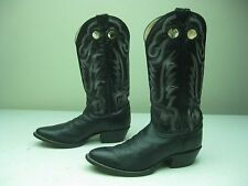 DISTRESSED MADE IN USA JUSTIN 1471 BLACK BRONC BUSTIN BUCKAROO BOOTS SIZE 7.5 M