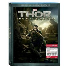 Target Exclusive Thor 2: The Dark World 3D 2D Blu-ray 2-Disc Set 2014 + DC