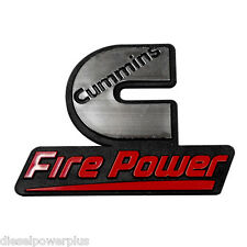 2 Cummins fire power emblem dodge ram decal stickers diesel badge truck 4x4 logo