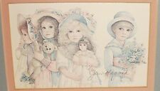 "JAN HAGARA ""PHILLIPS COUSINS"" SMALL HAND SIGNED IN PENCIL FRAMED PRINT"