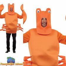ORANGE CRAB SEAFOOD FISH FOOD NOVELTY One Size Adult Mens Fancy Dress Costume
