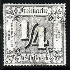 THURN & TAXIS GERMANY 1867 Northern District ¼ Sgr. Black ROULETTED SG 38 VFU