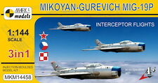 Mark I Models 1/144 Mikoyan MiG-19P Farmer B 'Interceptor Flights' (3in1) # 1445