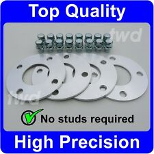 5MM HUB CENTRIC ALLOY WHEEL SPACERS SHIMS KIT + EXTRA LONG NUTS FOR FORD [SF12]